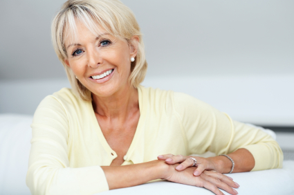 mature woman perfect teeth smile